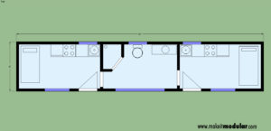 MI MOD 320B 2B 1B Floor Plan