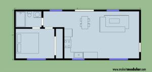 MI MOD 640A Floor Plan