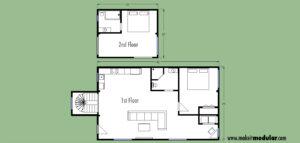 MI MOD 1280A Floor Plan