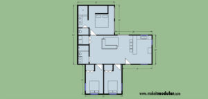 MI MOD 1280B 3:2 1Story Floor Plan Layout