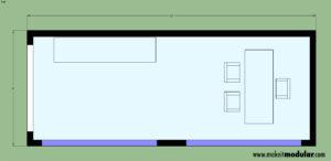 MI MOD 160B Studio Floor Plan