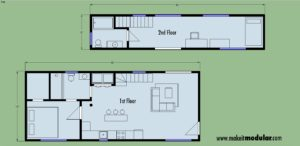 MI MOD 960A 2B 2B 2Story Floor Plan