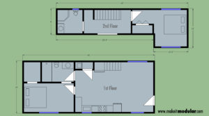 MI MOD 960B 2:2 2Story Floor Plan